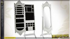 miroir psyché porte bijoux psych 233 miroir baroque avec armoire 224 bijoux patine blanc