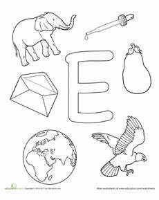 free preschool worksheets letter e 24615 coloring e is for preschool letters preschool worksheets alphabet coloring pages