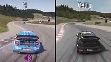 dirt 4 vs dirt rally citroen ds3 wrx comparison