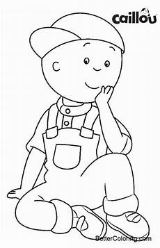 caillou coloring pages in hat free printable coloring pages