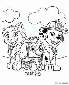 Paw Patrol Malvorlagen Paw Patrol Coloring Pages Print And Color