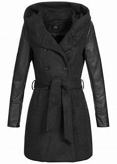 damen mantel schwarz tailliert damen mantel schwarz