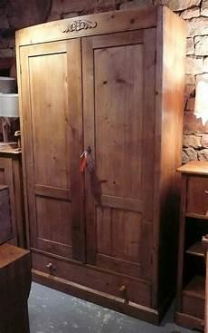Armoire Ancienne En Pin 2 Portes 1 Tiroir Int 233 Gralement