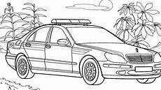 polizei ausmalbilder autos mercedes