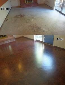 Floor Before And After by 8 Best Images About Before After Concrete Staining On