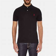 polo ralph s slim fit sleeved polo shirt