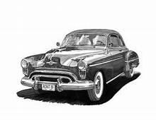Line Drawing Of Old Cars  Fleetline Custom Coupe