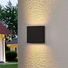 square led outdoor wall light trixy graphite grey lights co uk