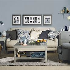 blue grey living room ideal home