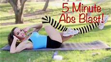 5 minute abs workout blast non stop 5 min ab workout at
