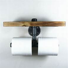 Toilet Paper Shelf Holder Wall Mounted industrial iron pipe wall mount toilet paper