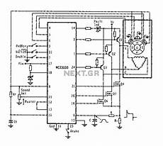 three phase six step motor control circuit diagram composed of mc33035 stepper motor