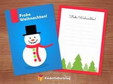 weihnachtskarten basteln mit kindern kostenlose vorlagen