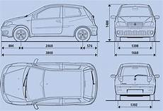 dimension fiat punto tutorials3d blueprints fiat punto 2004