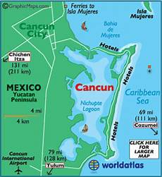 map of cancun caribbean island maps cancun map information world atlas