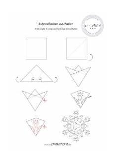 Schneeflocken Ausschneiden Vorlage - sechseckige schneeflocken aus papier anleitung