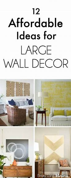 12 Affordable Ideas For Large Wall Decor Family Room