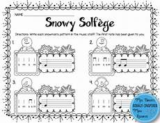 snowy solfege stick to staff notation activities so and