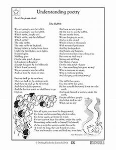 poem worksheets for grade 4 25551 4th grade reading writing worksheets poems the rabbit greatschools