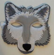 Wolf Maske Basteln - grey wolf mask felt animal mask by thekidzclothesline on