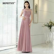 bepeithy pink long evening dresses 2019 robe de soiree vintage prom dress with belt vestido de