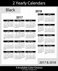 2017 2018 Yearly Calendar A4 Legacy Templates