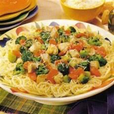 angel hair pasta with chicken recipe taste of home angel hair pasta with chicken recipe