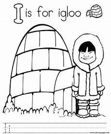 s282e letter i for igloo alphabet color pages8916 coloring pages