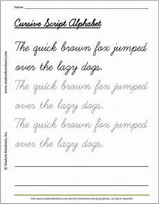 make handwriting practice worksheets quickly 21540 the brown fox jumped the lazy dogs cursivescript handwriting practice handwriting