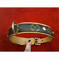 collier de chien louis vuitton baxter mm en toile monogram