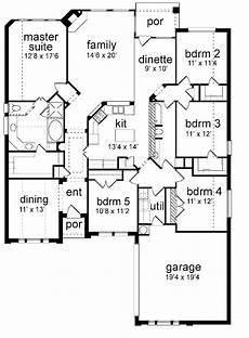 5 bedroom house plans 1 story floor plan 5 bedrooms single story five bedroom new