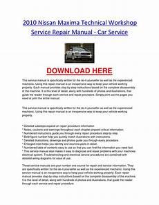 car repair manual download 2010 nissan maxima engine control 2010 nissan maxima technical workshop service repair manual car service by nissancarrepair issuu