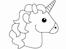 simple and basic unicorn coloring page for