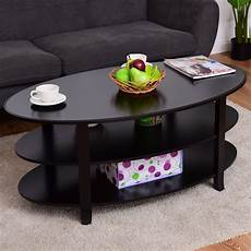 oval coffee tables with storage giantex 3 tier wood oval coffee table modern accent