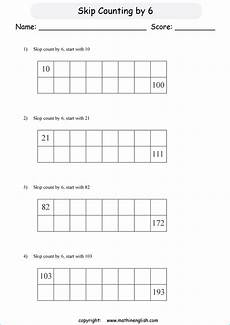 worksheets for grade 2 18761 skip count by 6 math addition and numeracy worksheet for grade 1 and 2 math students in math