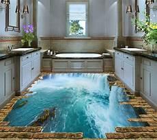 plancher 3d trompe l œil cuisine salle de bain chute d