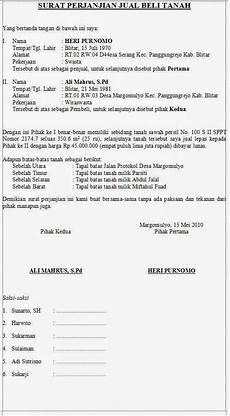 contoh surat perjanjian jual beli tanah kata kata gokil raja gombal