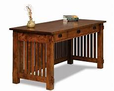 solid wood home office furniture amish mission craftsman arts crafts writing desk solid