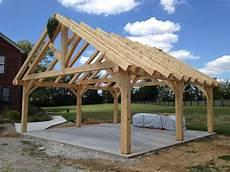kingpost trusses timberframe timber frame trusses in 2019 backyard pavilion carport