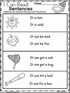 free easy reading worksheets for kindergarten free kindergarten sentence reading worksheets reading worksheets kindergarten worksheets