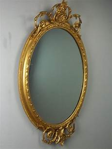 antiques atlas large 19th century oval gilt wall mirror