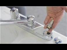 fixing kitchen faucet faucet repair how to repair a kitchen two handle faucet