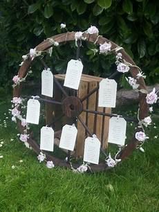 rustic wagon wheel wedding table plan great for barn or