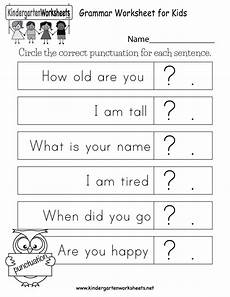 punctuation worksheets preschool 20874 free printable grammar worksheet for for kindergarten