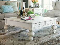 Square Shabby Chic Coffee Table With Gustavan Style