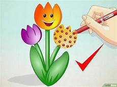 Gambar Kartun Bunga Tulip Gambar Kartun Keren
