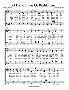 free choir sheet music o little town of bethlehem key of eb f and g major christmas music