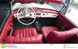 Mercedes Benz 190SL Red Leather Interior Editorial