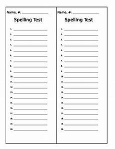 spelling test worksheets to print 22573 spelling test template by mstalley916 teachers pay teachers