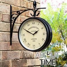 27cm outdoor garden paddington station wall clock outside